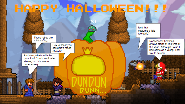how to get halloween terraria